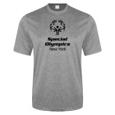 Performance Grey Heather Contender Tee-Primary Mark Vertical