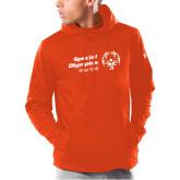 Under Armour Orange Armour Fleece Hoodie-Primary Mark Horizontal