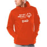 Under Armour Orange Armour Fleece Hoodie-Dad