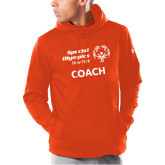 Under Armour Orange Armour Fleece Hoodie-Coach