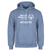 Light Blue Fleece Hoodie-Athlete