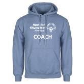 Light Blue Fleece Hoodie-Coach