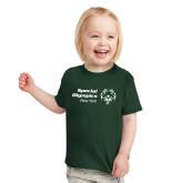 Toddler Dark Green T Shirt-Primary Mark Horizontal