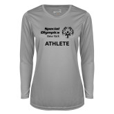 Ladies Syntrel Performance Platinum Longsleeve Shirt-Athlete