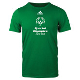 Adidas Kelly Green Logo T Shirt-Primary Mark Vertical