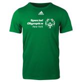 Adidas Kelly Green Logo T Shirt-Primary Mark Horizontal