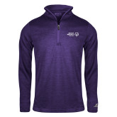 Russell Purple Heather 1/4 Zip-Primary Mark Horizontal
