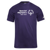 Russell Core Performance Purple Tee-Primary Mark Horizontal
