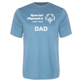Performance Light Blue Tee-Dad