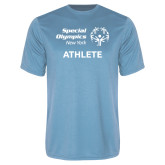 Performance Light Blue Tee-Athlete