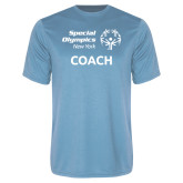 Performance Light Blue Tee-Coach