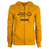 ENZA Ladies Gold Fleece Full Zip Hoodie-Mom