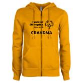 ENZA Ladies Gold Fleece Full Zip Hoodie-Grandma