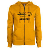 ENZA Ladies Gold Fleece Full Zip Hoodie-Athlete