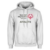 White Fleece Hoodie-Athlete