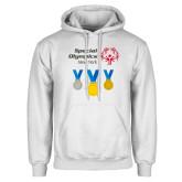 White Fleece Hoodie-Olympic Medals