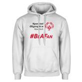 White Fleece Hoodie-Hashtag Be A Fan