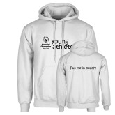 White Fleece Hoodie-Young Athletes Shirt Front