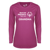 Ladies Syntrel Performance Raspberry Longsleeve Shirt-Grandma