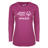 Ladies Syntrel Performance Raspberry Longsleeve Shirt-Athlete