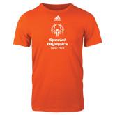 Adidas Orange Logo T Shirt-Primary Mark Vertical