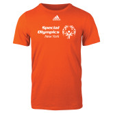 Adidas Orange Logo T Shirt-Primary Mark Horizontal
