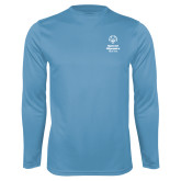 Performance Light Blue Longsleeve Shirt-Primary Mark Vertical