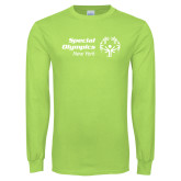 Lime Green Long Sleeve T Shirt-Primary Mark Horizontal