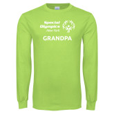 Lime Green Long Sleeve T Shirt-Grandpa
