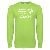 Lime Green Long Sleeve T Shirt-Coach