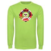Lime Green Long Sleeve T Shirt-Polar Plunge