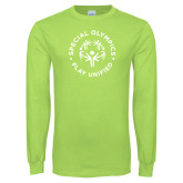 Lime Green Long Sleeve T Shirt-Play Unified
