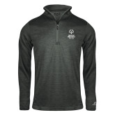 Russell Charcoal Heather 1/4 Zip-Primary Mark Vertical