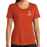 Ladies Syntrel Performance Orange Tee-Primary Mark Vertical