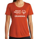 Ladies Syntrel Performance Orange Tee-Grandma