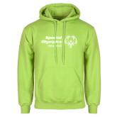 Lime Green Fleece Hoodie-Primary Mark Horizontal