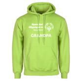 Lime Green Fleece Hoodie-Grandpa