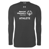 Under Armour Carbon Heather Long Sleeve Tech Tee-Athlete