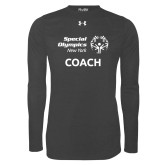 Under Armour Carbon Heather Long Sleeve Tech Tee-Coach