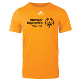 Adidas Gold Logo T Shirt-Primary Mark Horizontal