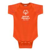Orange Infant Onesie-Primary Mark Vertical