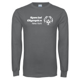 Charcoal Long Sleeve T Shirt-Primary Mark Horizontal