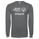 Charcoal Long Sleeve T Shirt-Athlete