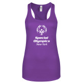 Next Level Ladies Purple Berry Ideal Racerback Tank-Primary Mark Vertical