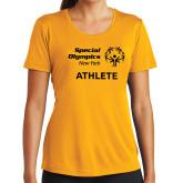 Ladies Syntrel Performance Gold Tee-Athlete