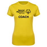 Ladies Syntrel Performance Gold Tee-Coach