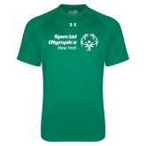 Under Armour Kelly Green Tech Tee-Primary Mark Horizontal