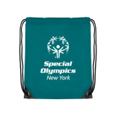 Teal Drawstring Backpack-Primary Mark Vertical
