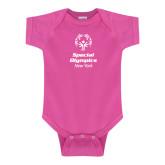 Fuchsia Infant Onesie-Primary Mark Vertical