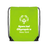 Lime Green Drawstring Backpack-Primary Mark Vertical